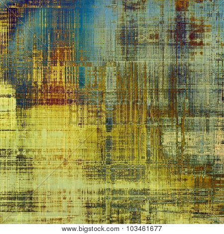 Old background with delicate abstract texture. With different color patterns: yellow (beige); brown; blue; gray