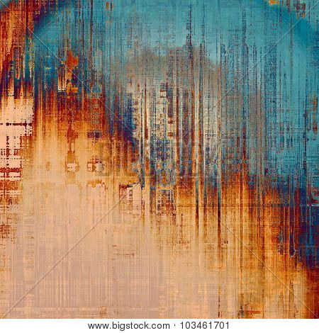 Old antique texture (for background). With different color patterns: yellow (beige); blue; gray; red (orange)