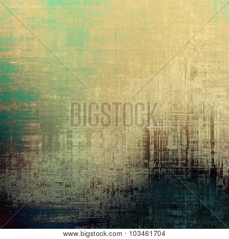 Old abstract grunge background for creative designed textures. With different color patterns: yellow (beige); brown; blue; green