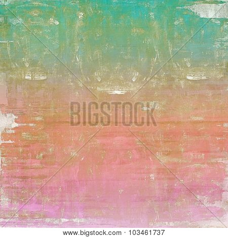 Antique vintage background. With different color patterns: brown; pink; blue; cyan