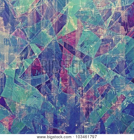 Grunge texture, may be used as retro-style background. With different color patterns: purple (violet); pink; blue; green