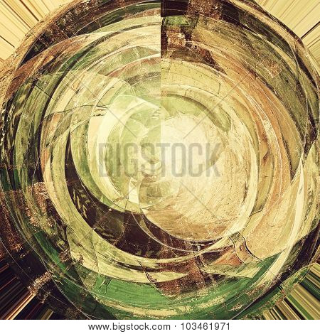Abstract distressed grunge background. With different color patterns: yellow (beige); brown; black; green