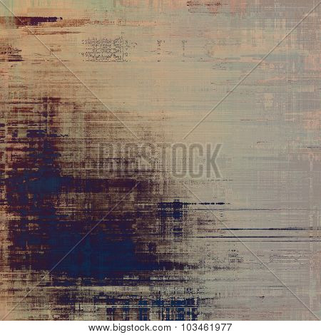 Old, grunge background or ancient texture. With different color patterns: yellow (beige); brown; purple (violet); blue