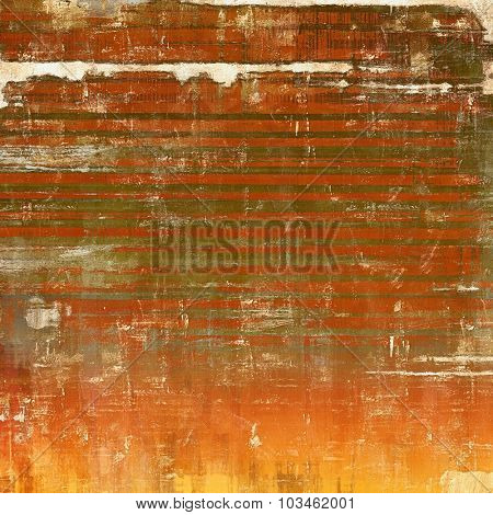 Old grunge antique texture. With different color patterns: yellow (beige); brown; gray; red (orange)
