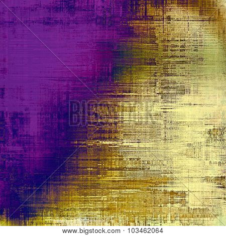 Old ancient texture, may be used as abstract grunge background. With different color patterns: yellow (beige); brown; purple (violet); blue