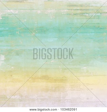 Aging grunge texture, old illustration. With different color patterns: yellow (beige); brown; blue; cyan