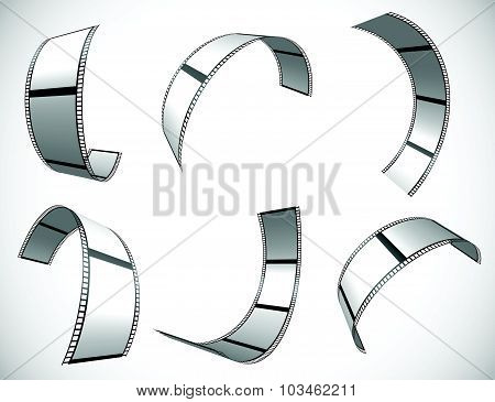 Film Strip Vector Graphics For Photography Concepts