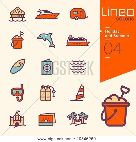 Lineo Colors - Holiday and Summer icons