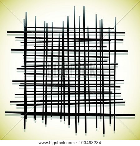 Abstract Lines Pattern. Randomly Placed, Intersecting Lines.