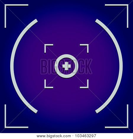 Camera, Viewfinder Background With Cross Hair, Target Mark.