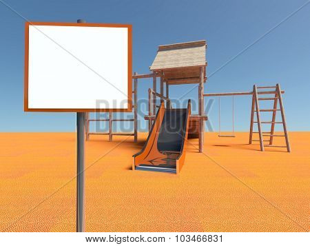 Playground Without Children With Empty Frame