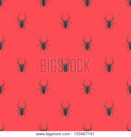 Seamless Geometric Pattern With A Spider.
