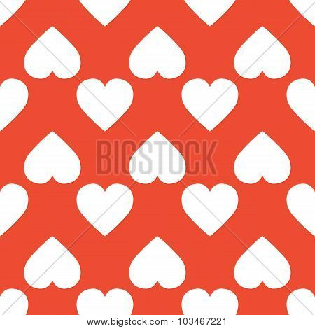 White Hearts On A Red Background