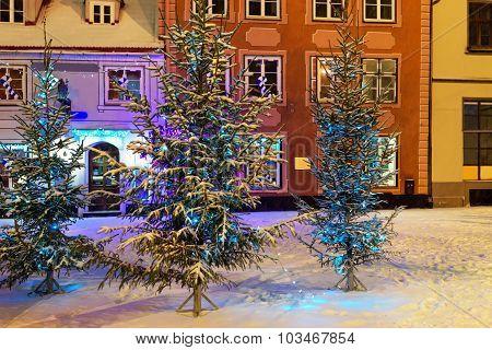 Christmas Mood In Old Riga