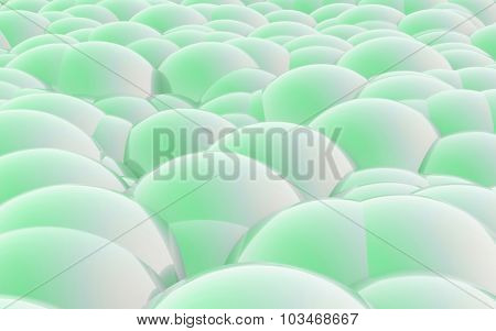 3D Spheres Crossover Green