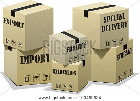 Export import boxes