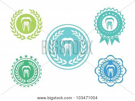 Tooth icons set ,Tooth logo set,Tooth label set