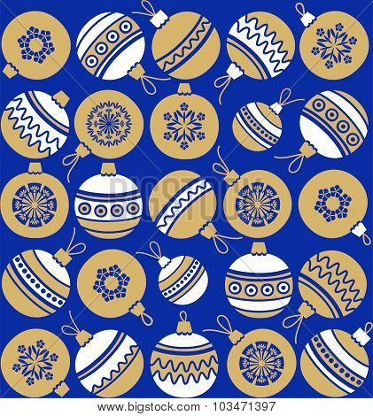 Christmas Balls, Gold, White,...