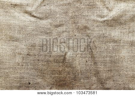Closeup of burlap hessian sacking