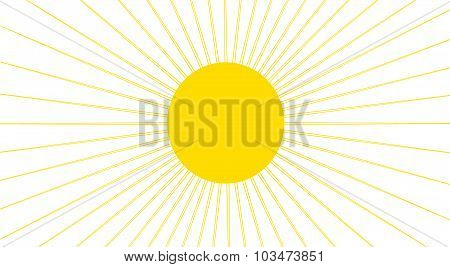 Yellow Sun With Thin Rays