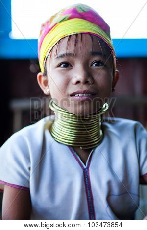 Padaung Tribal Girl, Myanmar