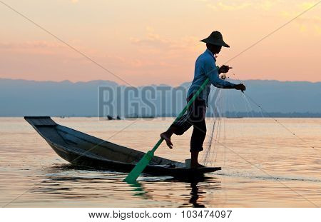 Inle Lake In Shan State, Myanmar