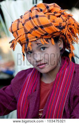 Pa-o Tribe Girl, Myanmar