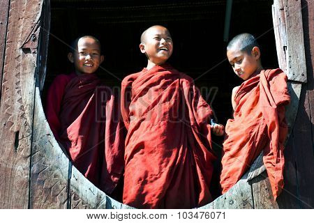 Novice Monks. Myanmar