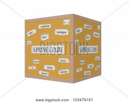 Supreme Court 3D Corkboard Word Concept