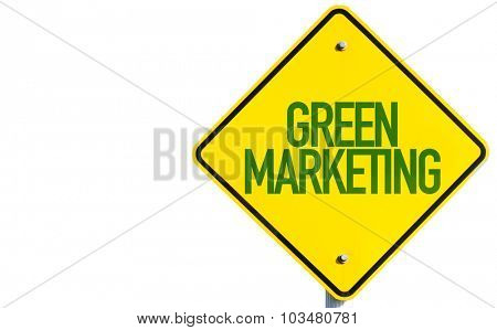 Green Marketing sign isolated on white background