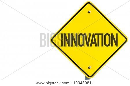 Innovation sign isolated on white background