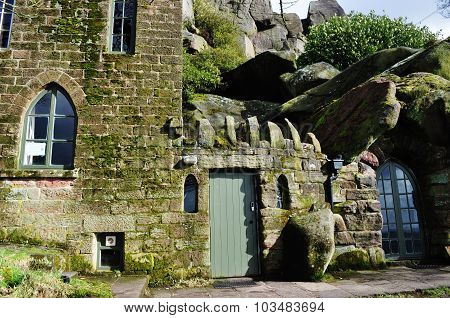home build into rocks