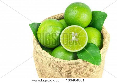 Lime Fruit Pack In Sack Bag