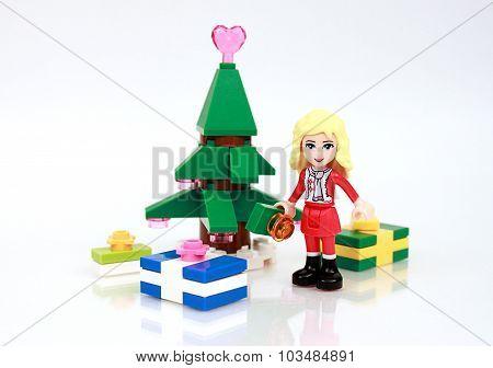 Christmas Lego Scene