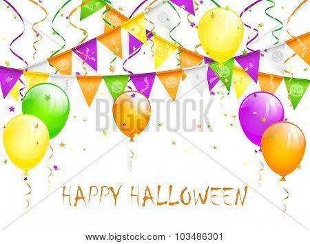 Halloween Pennants And Balloons