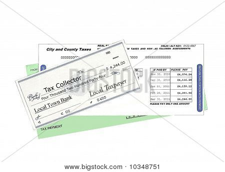 Payment of local taxes (white background)
