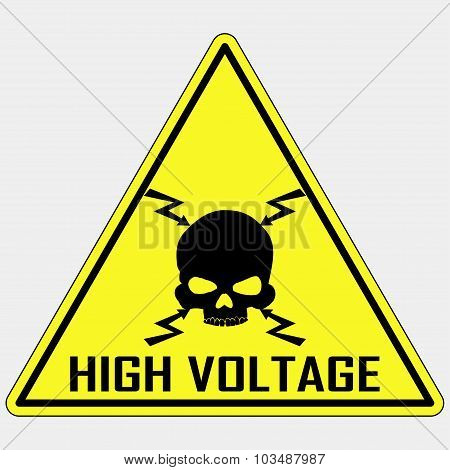 Danger High Voltage Sign, vector