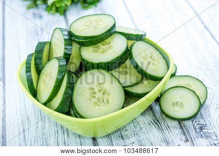 Portion Of Fresh Cucumbers
