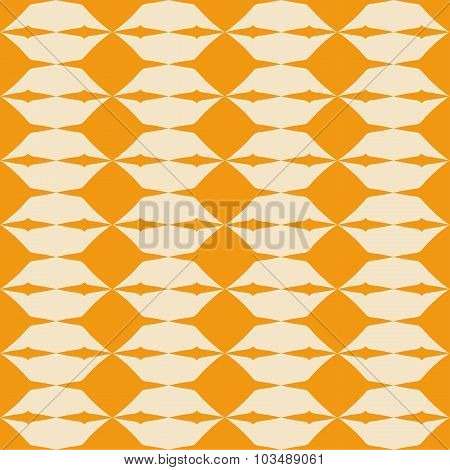 Tile orange vector pattern with geometric decoration