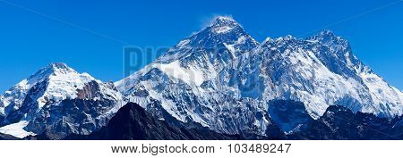 Mount Everest With Lhotse And Pumori