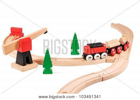 Children Train On The Railway