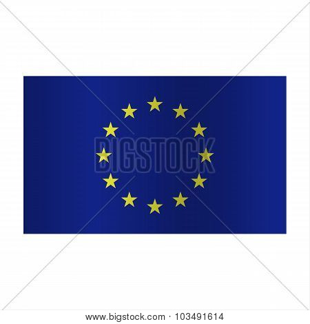 Simple vector Europe flag (EU)