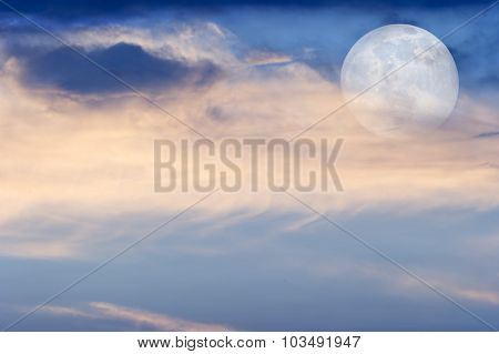 Moon Clouds Skies