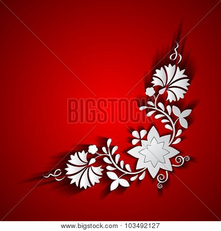 Abstract paper floral ornament