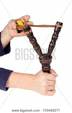 Hands Shoot A Slingshot