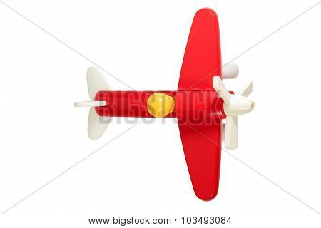 Red A Children Wooden Plane