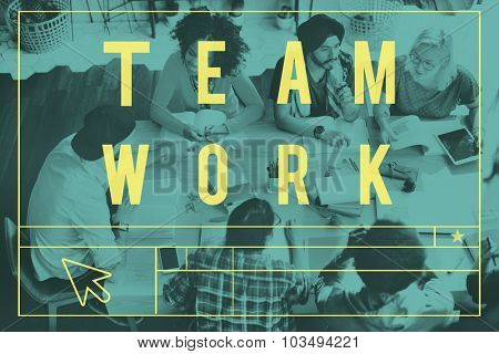 Teamwork Corporate Connection Togetherness Support Concept