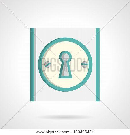 Door lock flat vector icon