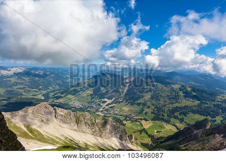Panorama View Of The Bernese Alps