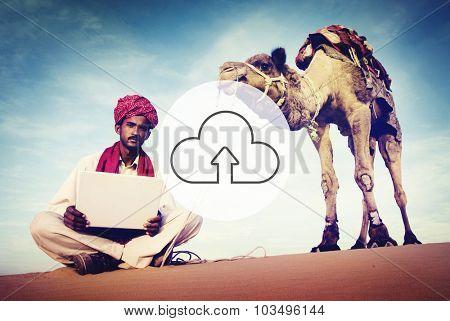 Cloud Computing Storage Internet Transfer Digital Concept
